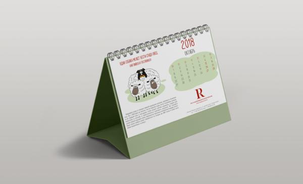 Календари домики перекидные